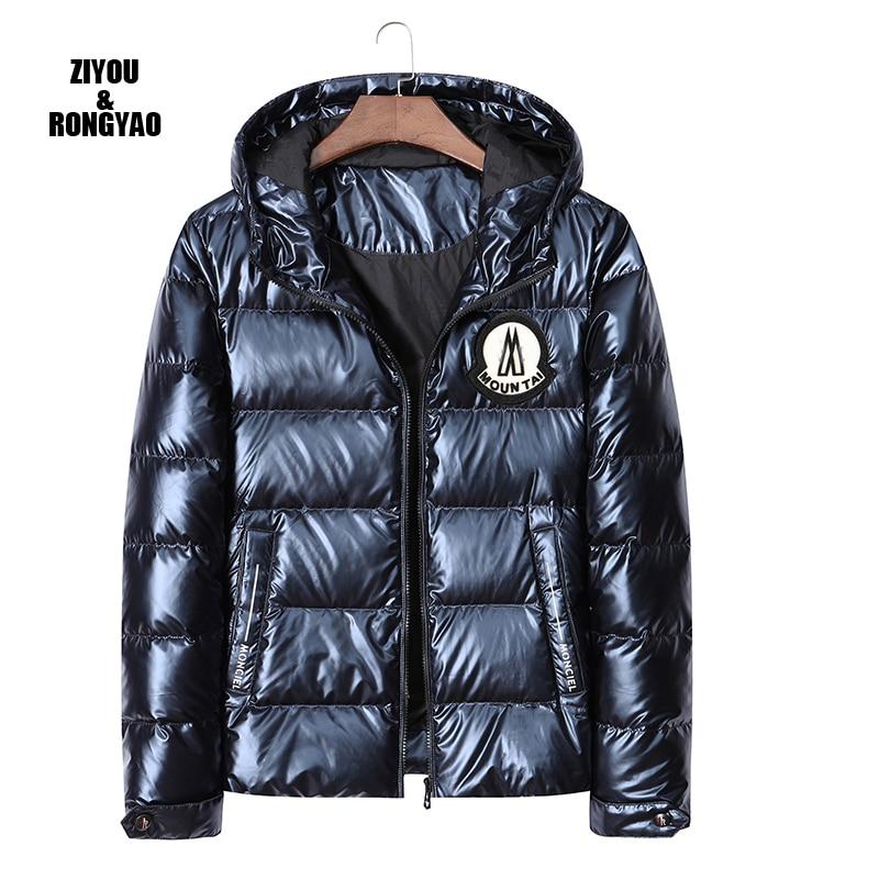 Winter Men down jacket hooded Thicken Casual luxury brand 80% White Duck Down Jacket Men Windbreaker Warm Coat high quality