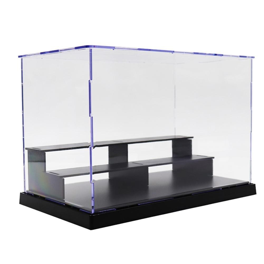 25*14,5*17cm 3 niveles a prueba de polvo acrílico transparente MODELO DE figura de acción DIY estuche de exposición caja de almacenamiento regalo para niños