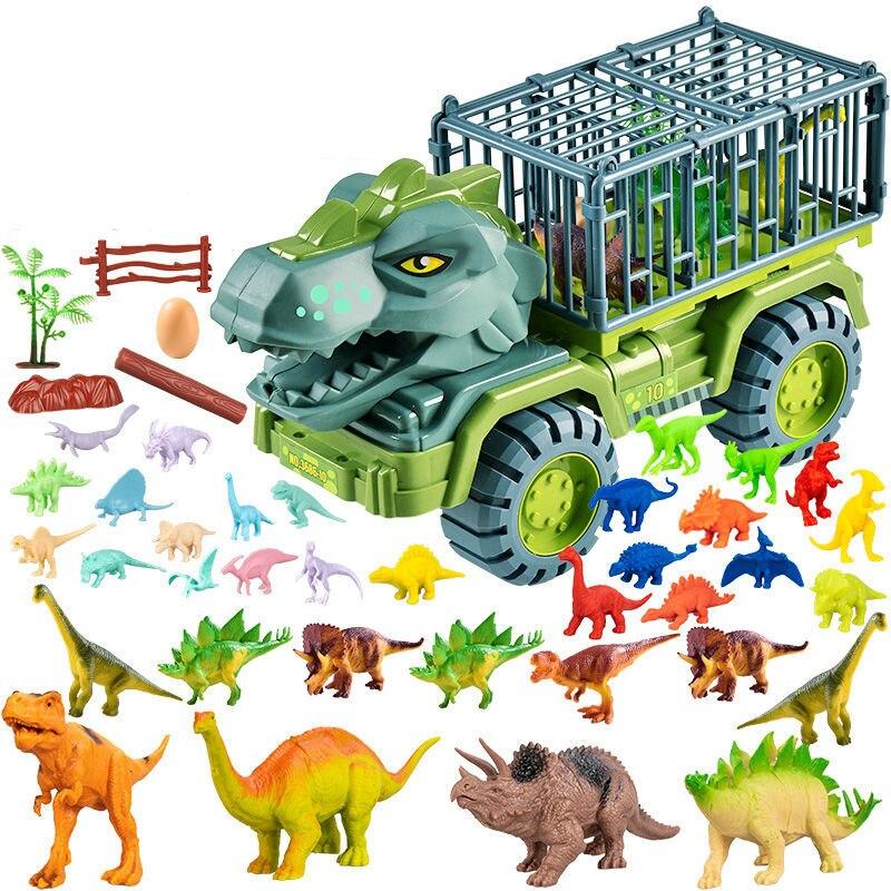 Детский автомобиль, игрушечный динозавр, транспорт, автомобиль, грузовик, игрушечный автомобиль, игрушечный динозавр, игрушка, подарок для ...