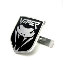 1x Chrome Cobra Allloy Car Front Hood Grille Emblem Body Sticker for Viper
