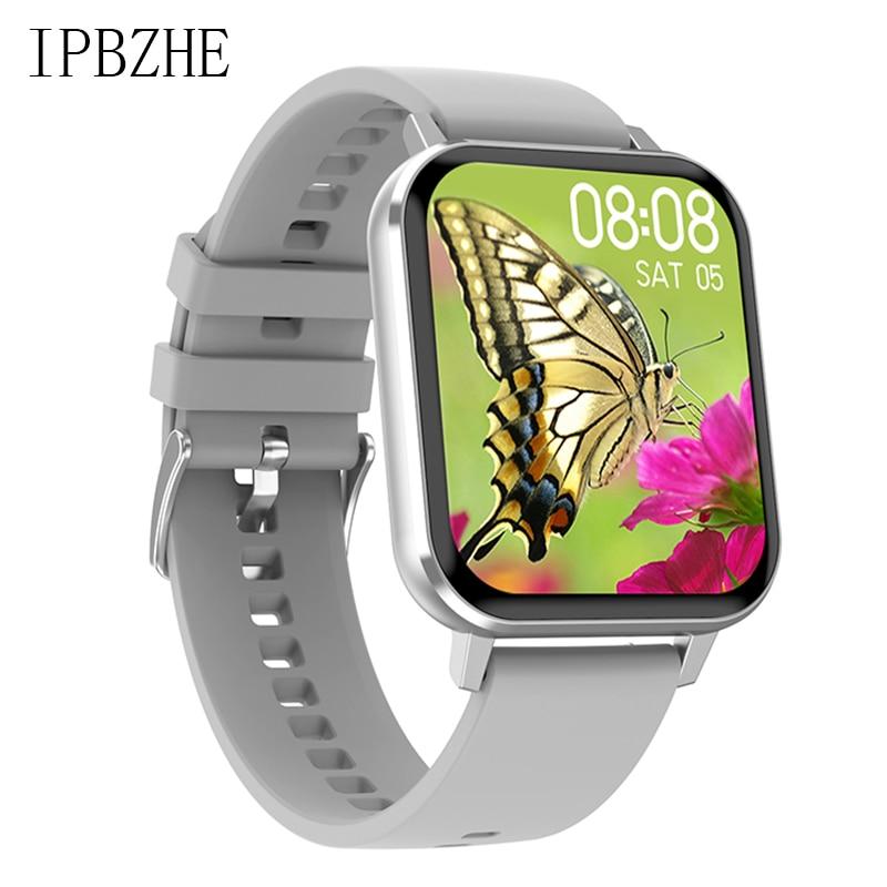Ipbzhe ساعة ذكية الرجال IP68 الرياضة مقاوم للماء Smartwatch النساء أندرويد Reloj Inteligente ساعة ذكية للرجال آيفون هواوي شاومي