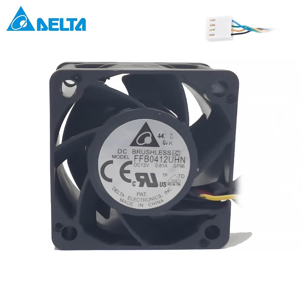 Для Delta FFB0412UHN-SP96 pmw 4pin 12V 0.81A 4028 40 мм 4 см 40*40*28 1U 2U сервер вентилятор большой мощности Вентилятор охлаждения