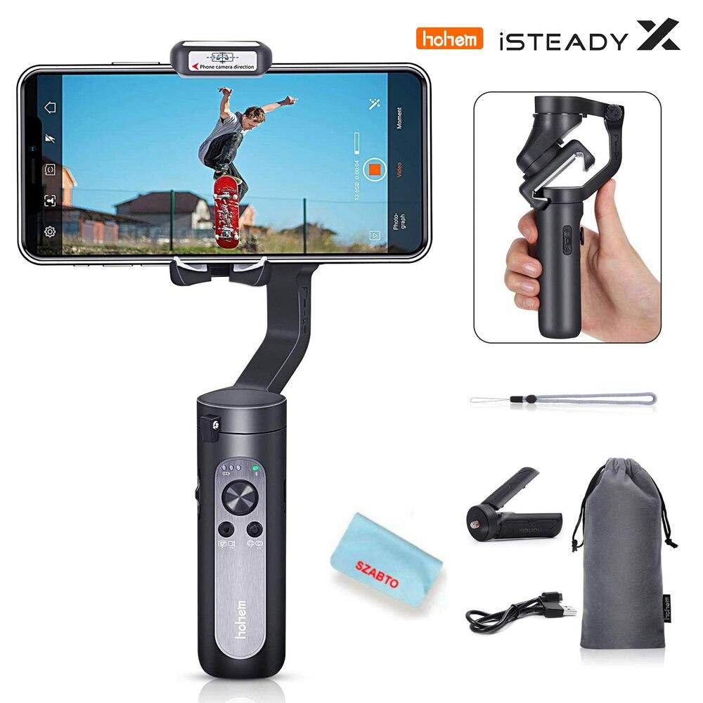 Hohem iSteady X-3-eje plegable del cardán estabilizador apoya belleza modo con iPhone11/Pro/Max/SE y Smartphones Android