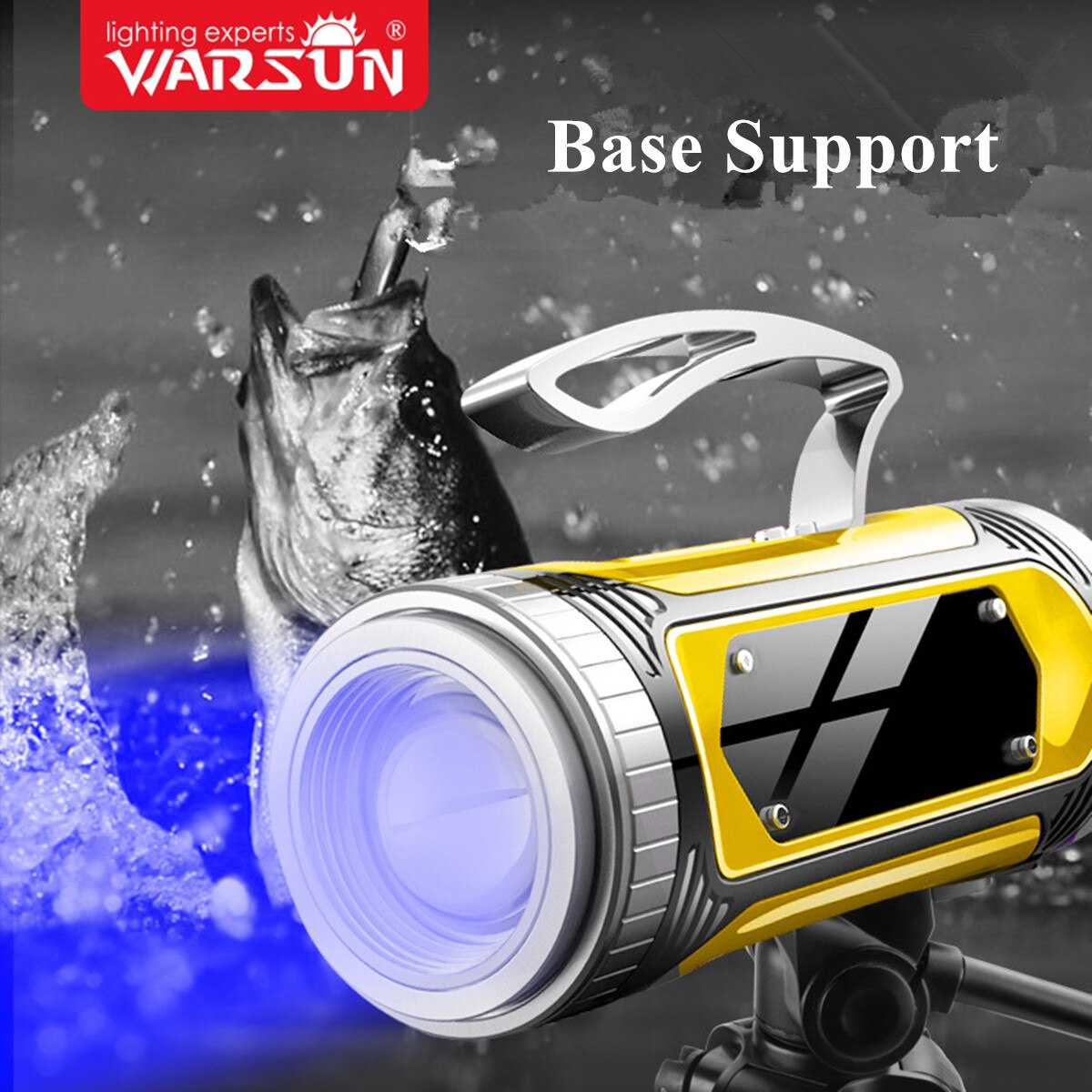 Warsun HD60 T6 Led Blue Lighting Source  Rechargable Fishling Light With Bracket And 10000 mAh Power Bank Function enlarge