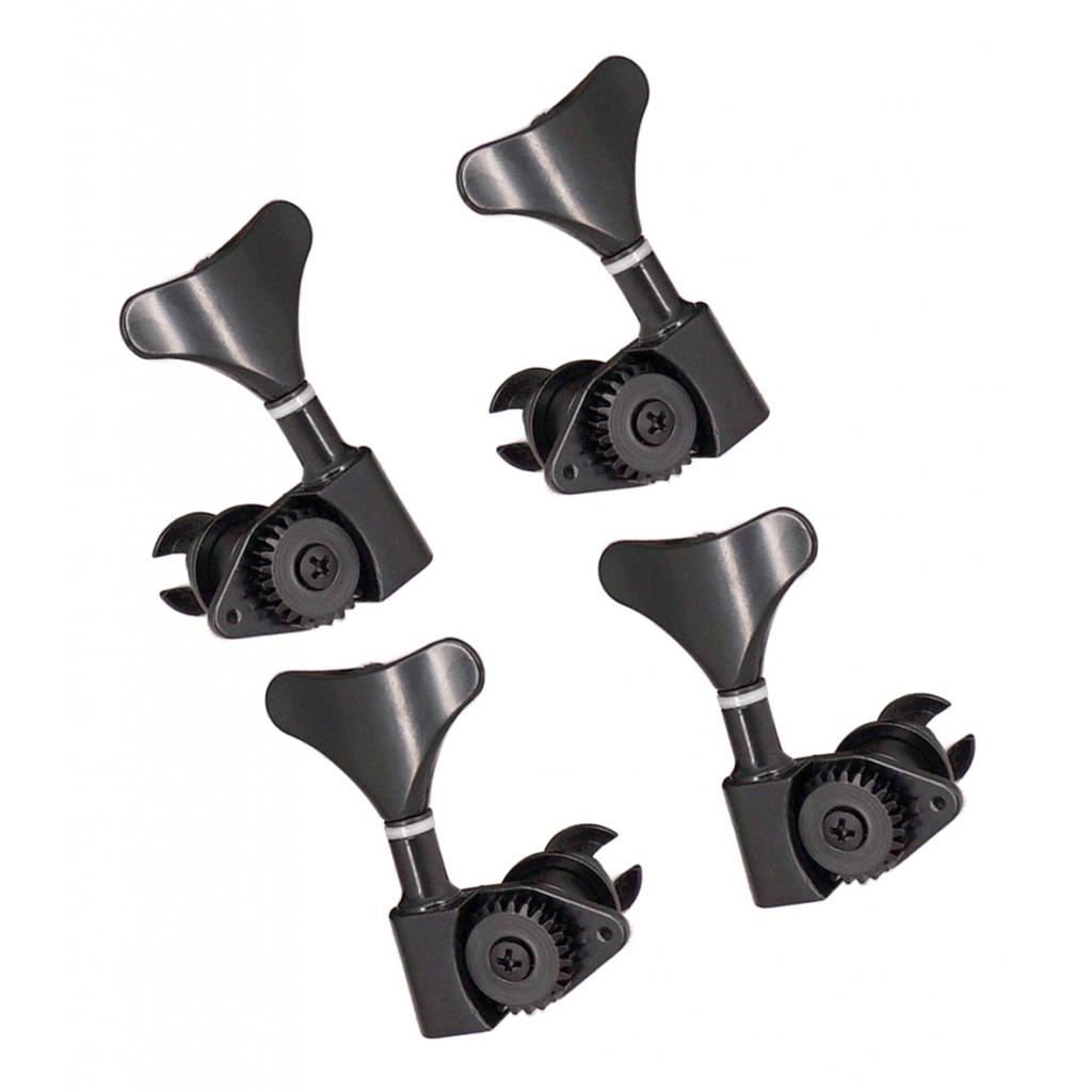 4 Pcs Meal Guitar Bass Tuning Pegs 2R2L Machine Heads Tuning Pegs, Heavy Duty Zinc Alloy enlarge