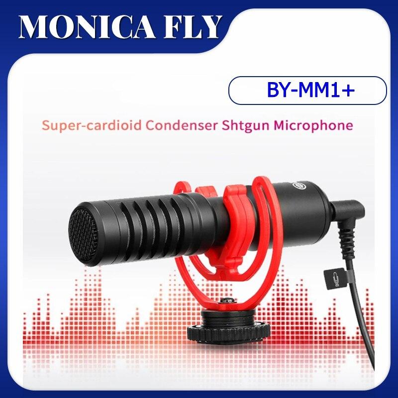 BOYA BY-MM1 زائد فيديو سجل المزدوج رئيس ميكروفون ميكروفونات كارت الصوت استوديو لعبة الهاتف الذكي ميكروفون للكاميرا الغناء