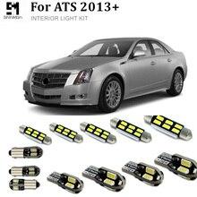 15pcs Error Free LED Interior Light Kit Package for Cadillac ATS accessories 2013+LED Interior Lighting Kit car light