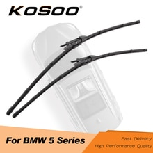 KOSOO-balais dessuie-glace pour BMW série 5   E39 E60 E61 F07 F10 F11, lames de voiture 2004 2005 2006 2007 2008 2009 2010 2011 2012 2013 2014