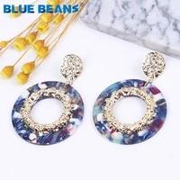 2020 acrylic earrings fashion jewelry drop earrings for women big dangle earrings boho wedding party kpop earings summer circle