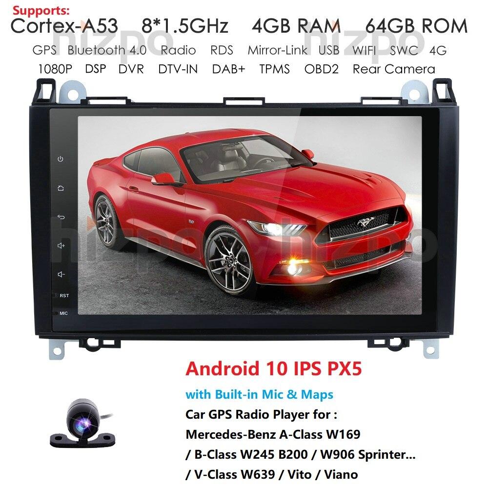 Android 9,0 coche SIN DVD para Mercedes Benz Sprinter Vito W169 W245 W469 W639 B200 GPS Radio DAB estéreo Octa Core 4 + 64 DSP IPS WIFI