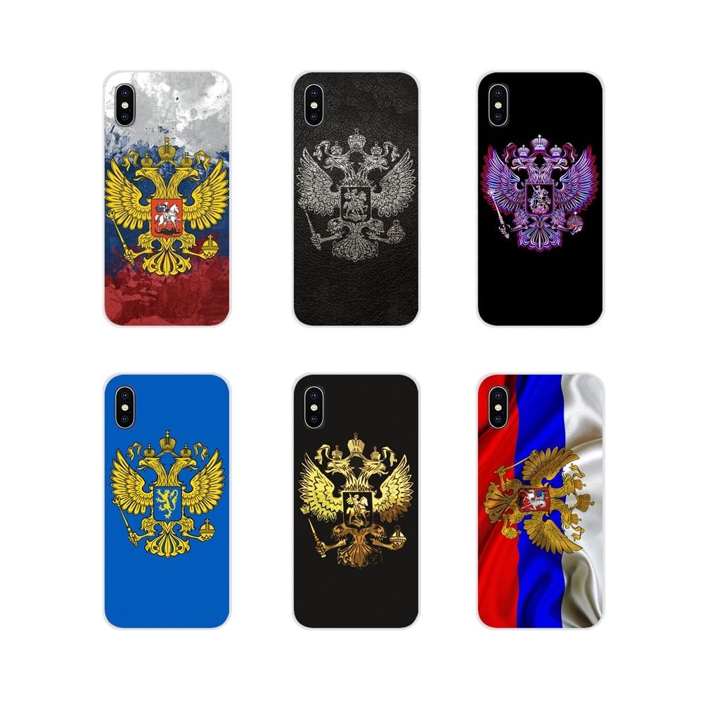 Для Xiaomi Redmi 4A S2 Note 3 3S 4 4X 5 Plus 6 7 6A Pro Pocophone F1 прозрачный чехол из ТПУ чехлы для России герб Орел флаг