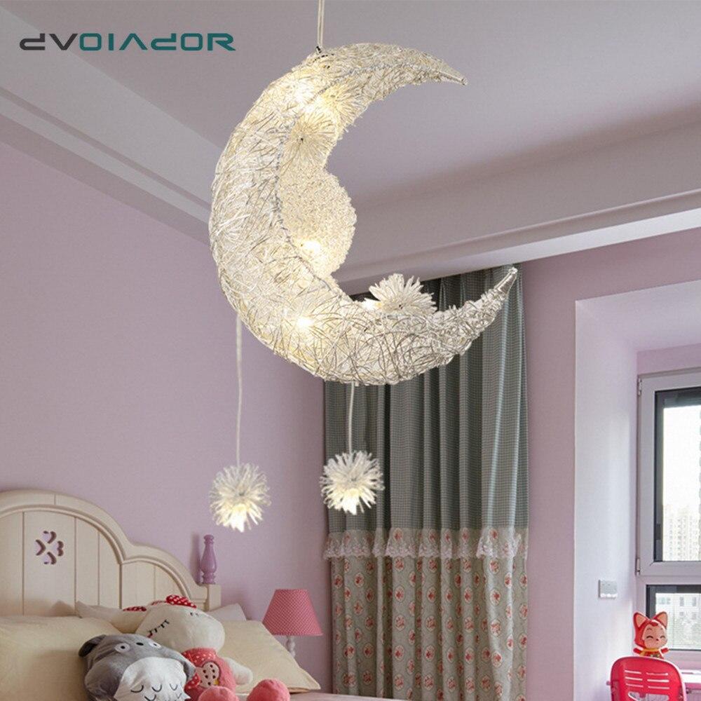 Подвесная лампа в виде Луны алюминиевый светильник без ржавчины креативный для