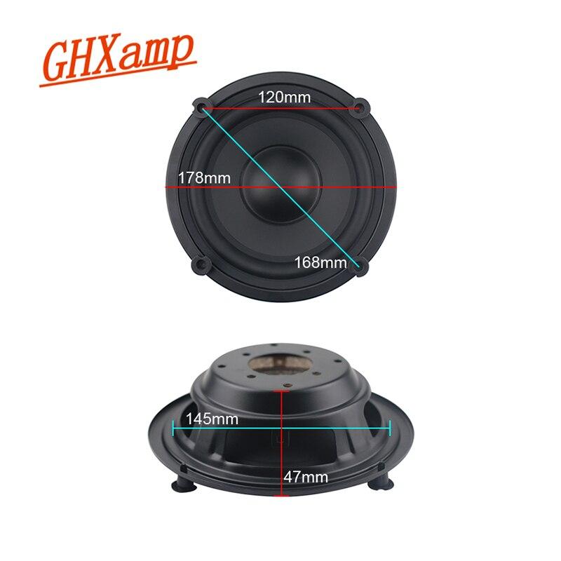GHXAMP, radiador pasivo de 6,5 pulgadas, 178mm, cuerno de radiador, en lugar de un tubo invertido, 2 uds