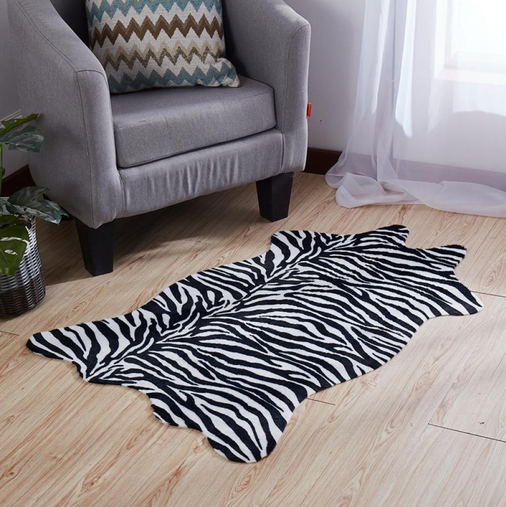 سجادة أرضية بطبعة جلد الفهد ، غير قابلة للانزلاق ، غرفة معيشة ، غرفة نوم ، ديكور منزلي