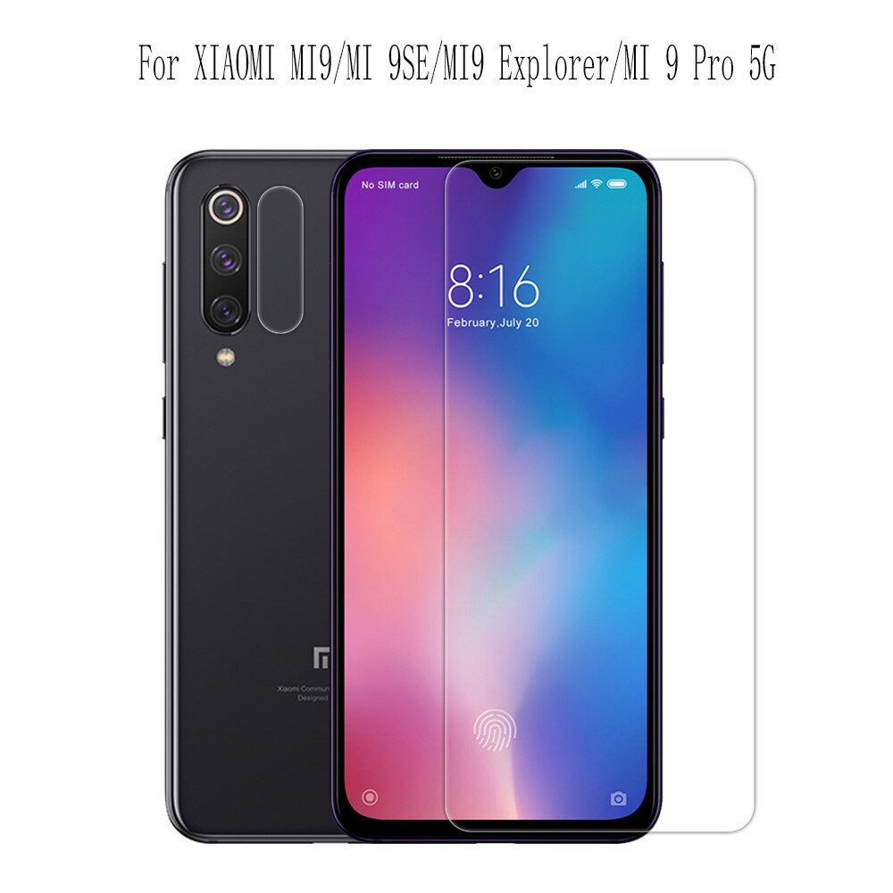 Para Xiaomi mi10 de cristal lite mi8/mi9/mi 9T/mi 9se/mi9 Pro/mi cc9e de Nillkin increíble H/H + PRO Protector de pantalla de vidrio templado
