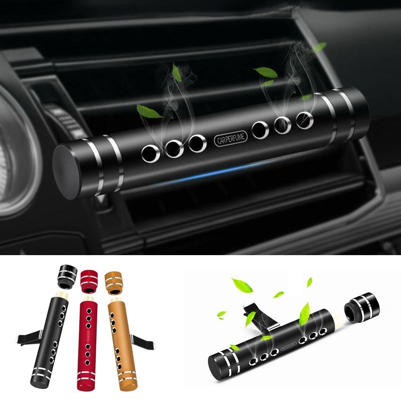 2019 ambientador de aire del coche de salida de ventilación accesorios de Interior de coche Perfume Aroma para coche difusor palillos de aromaterapia