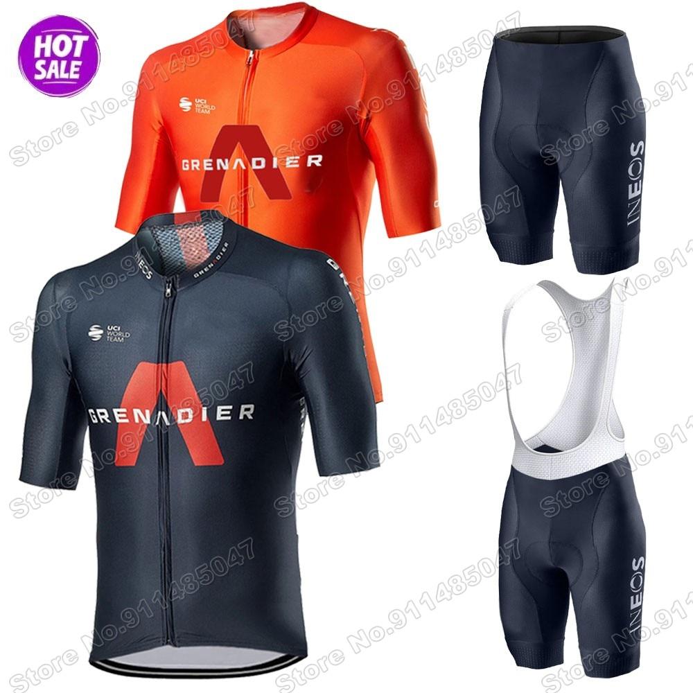 INEOS granadier-Conjunto de Ropa de ciclismo para hombre, Maillot de equipo, camisetas...