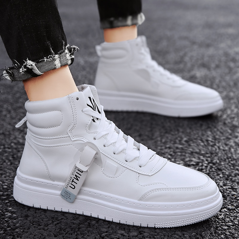 The new trendy brand inner heightening shoes waterproof fashion trend high top sports and leisure al