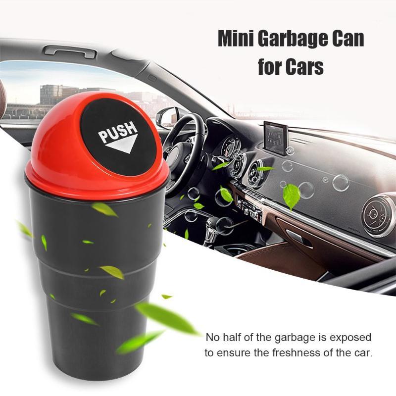 Auto Lata de lixo Lixo Carro Lata De Lixo Poeira Titular Bin Carro-estilo Para Mini Cooper One S JCW f55 F56 R60 R61 Acessórios