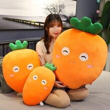 43cm, 60 cm, 80cm dessin animé carotte poupée mignon expression radis en peluche jouet fille enfant lit oreiller long cadeau danniversaire