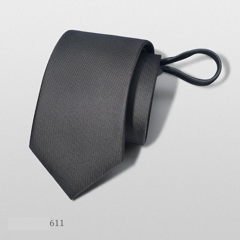 2020 Designer New Fashion 6cm Slim Ties for Men Zipper Neckties Wedding Formal Suit Casual Business Accessories with Gift Box