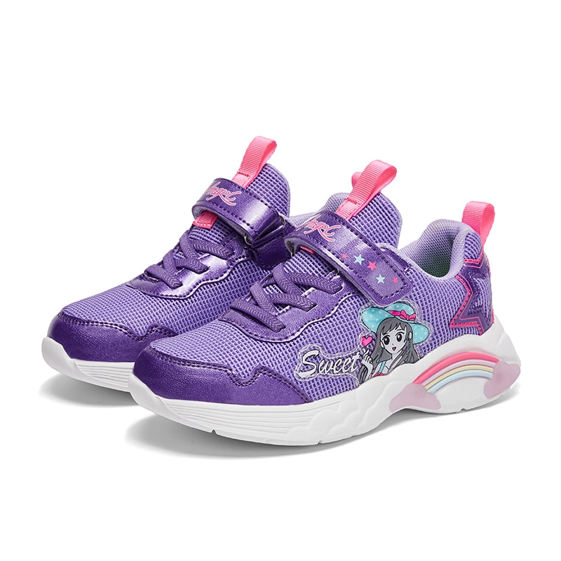 Girls Sneakers Children Shoes For Kids Sneakers Girls Shoes Breathable Mesh Cartoon Rubber Fashion S