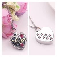 exquisite mom perfume bottle heart pendant and simple pink cats claw heart pendant lady necklace inlaid rhinestone jewelry