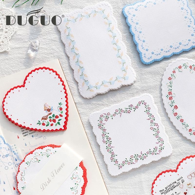DUGUOI cute stationery garden Ono note paper creative small fresh and cute hand account base border material paper cute memo