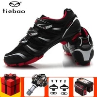 tiebao cycling shoes pedals set professional men sneakers women bicycle self locking mtb mountain bike shoes breathable riding