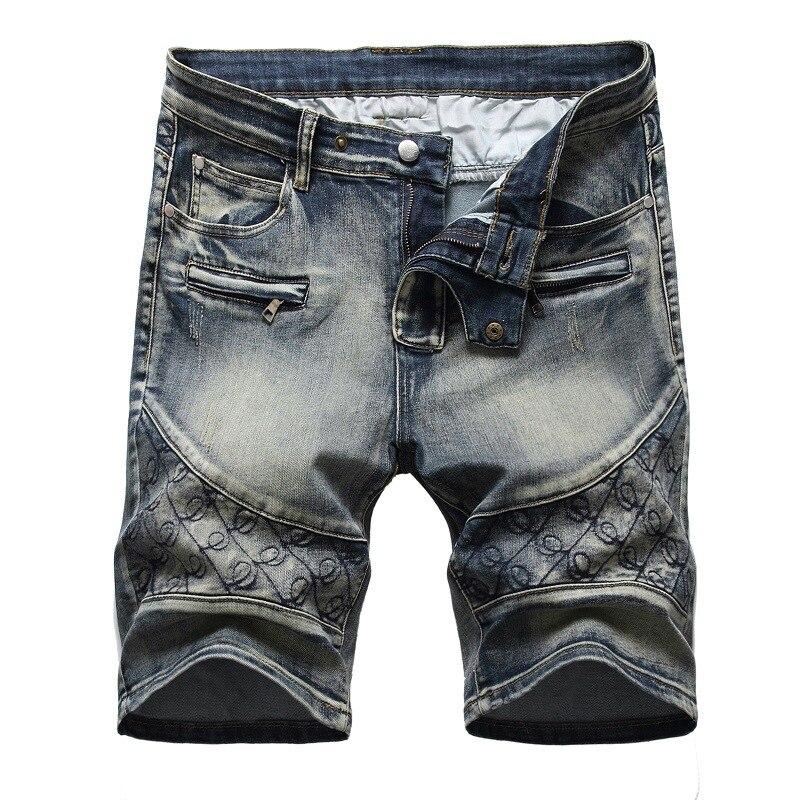 Брендовые мужские мешковатые джинсовые шорты, Новинка лета 2021, стильные классические черные и синие тонкие джинсовые шорты, мужские комбин...