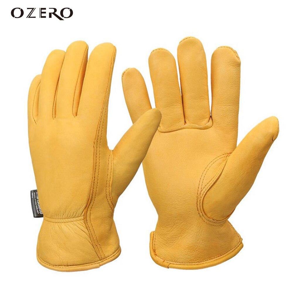 Ozero зимние защитные мотоперчатки, Термальность теплые лыжные перчатки для сноуборда кожаные перчатки полный палец