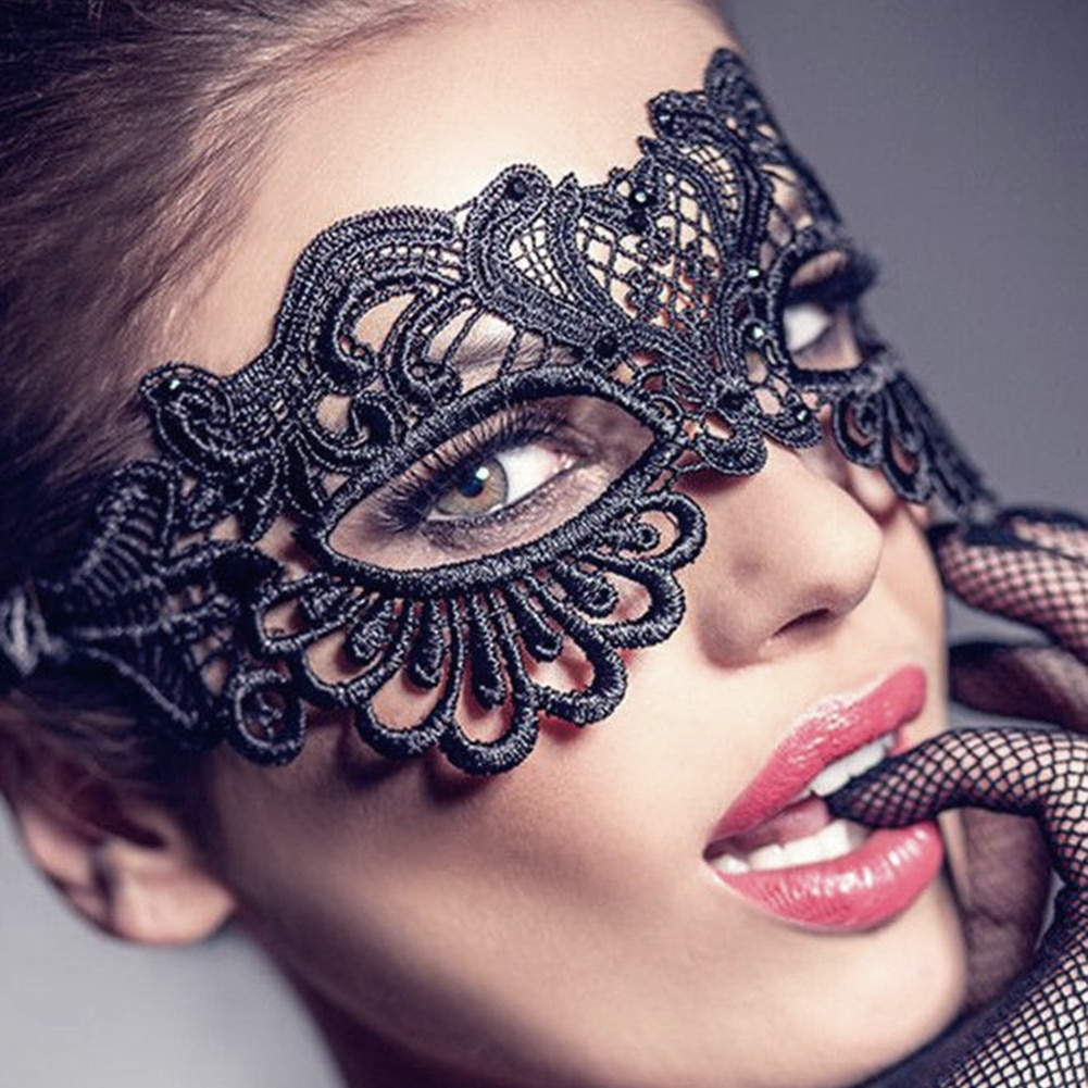 HOT SALES!!! Women Hollow Lace Masquerade Face Mask Princess Prom Party Props Costume Halloween Masquerade Mask Women