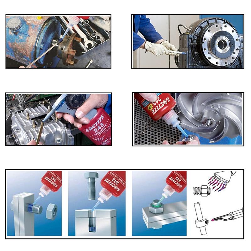 50ml Loctite Screw Adhesive 271 Super Anaerobic Glue High Strength Anti-loose Anti-slip Seal Thread Lock for Metal Thread