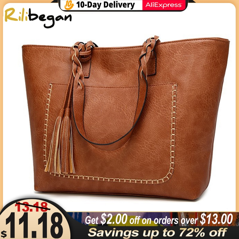 High Quality Casual Vintage Women Shoulder Bag PU Versatial Bags Fashion Female Handbags Large Capacity Messenger Tote Bags pu leather women underarm bag handbags large capacity ladies daily small casual tote fashion solid color female shoulder bags