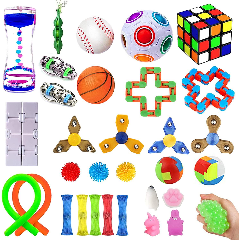 Набор игрушек aSensoryo 32 шт., набор для снятия стресса для детей и взрослых, подарки на день рождения, сувениры, рождественские подарки