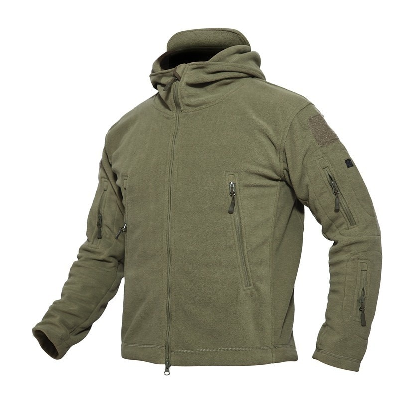 Warm Military Tactical Thicken Hiking Hunting Jackets Outdoor Hooded Fleece Coat High Quality Outerwear Waterproof Jacket