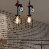 e26e27 retro loft style pendant lamp water pipe industrial vintage fixtures bar dinning room living room lamp