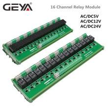 GEYA 16 groupes 1SPDT 1NC1NO Module de relais pour ca cc 5V 12V 24V PLC relais carte 12V 10A relais électromagnétique