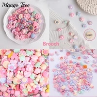 100pcslot cute cartoon brooch neckline pin fixed clothes decorative children gift book packaging accessory mixed resin jewelry