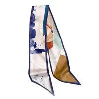 ink painting luxury brand scarf women silk scarf bag hair skinny scarf 2020 fashion foulard femme headband48