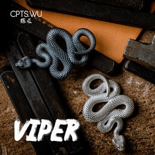 CPTS.WU S925 métal serpent porte-clés à la main porte-clés accessoires mode Animal porte-clés pendentif fête des pères cadeau