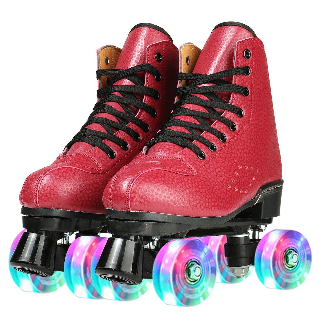Кроссовки из воловьей кожи для роликовых коньков, двухрядные роликовые, сдвижные, для улицы, для начинающих женщин