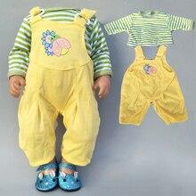 43cm Baby Bona Puppe Strampler Outfit für 17 Zoll Neue Geboren Baby Puppe Kleidung Anzug für Spielzeug Tragen 18 zoll Mädchen Puppe Kleidung