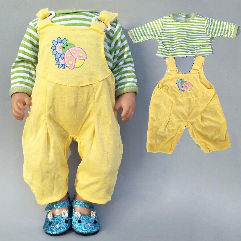 Atuendo de peleles de bebé Bona de 43cm para recién nacido de 17 pulgadas, traje ropa para muñecas, ropa de juguete para niñas de 18 pulgadas