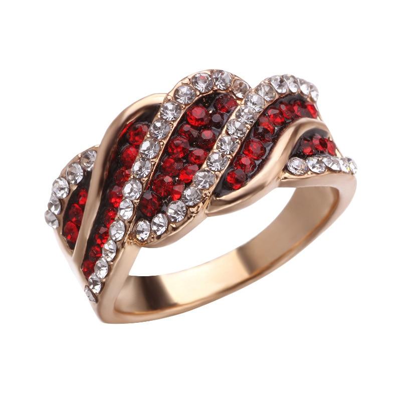 Rot zirkon legierung geometrische ring frau sommer heißer mode übertrieben zubehör bankett schmuck geschenk mädchen
