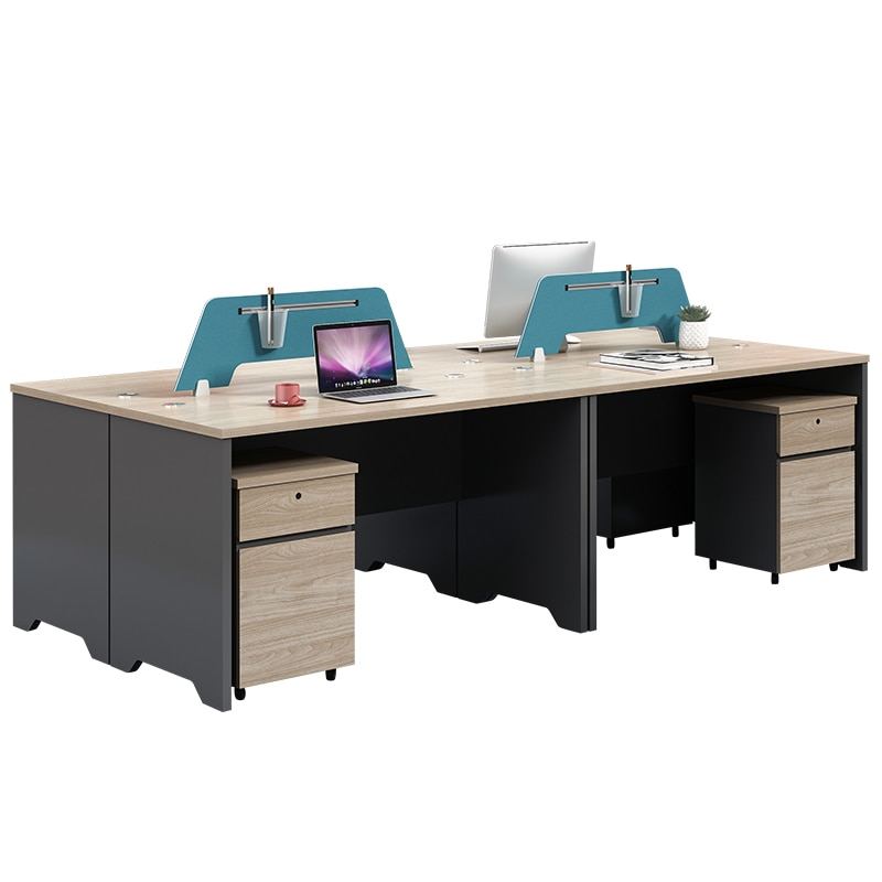 Desk of office furniture and contracted employees station staff office furniture combination computer screen 4-6