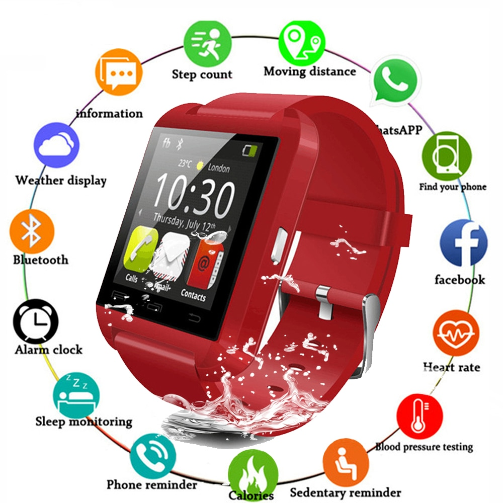 New U8 Smartwatch Bluetooth for IOS Android Smart Phone Sleep Monitor Fitness Tracker Clock Wearable Device Sport Smart Watch