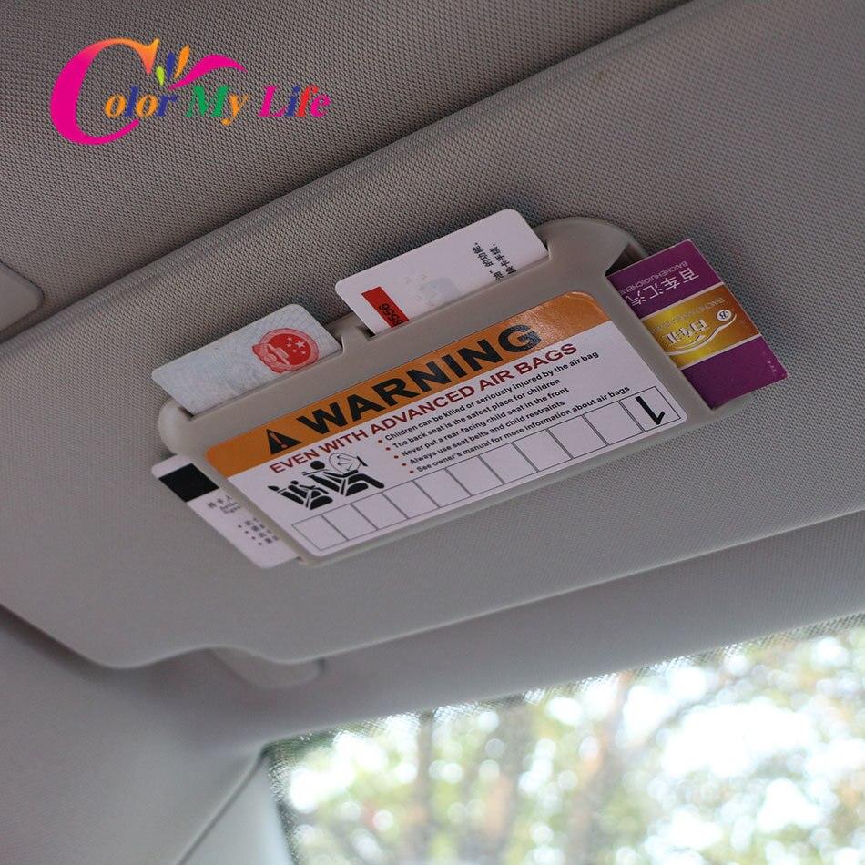 3 Colors Car Sun Visor Card Holder Parking Cards Box for Nissan X-trail T31 T32 Qashqai J10 J11 for Renault Koleos Kadjar Duster