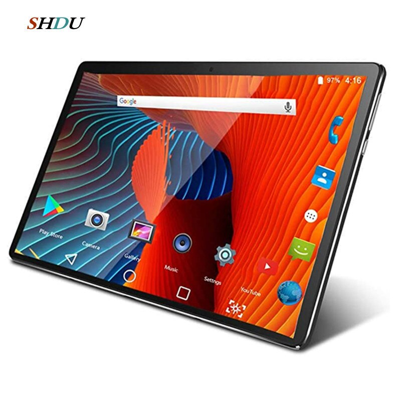 Neue Tablet Pc 10,1 zoll Android 10,0 Google Play 3G 4G Anruf Tabletten WiFi Bluetooth GPS Gehärtetem glas 10 zoll Tablet