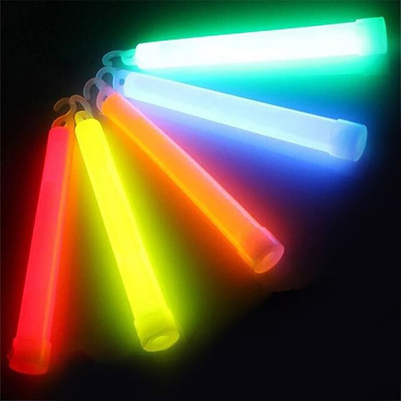 5pcs/lot 6inch multicolor Glow Stick Chemical light stick Camping Emergency decoration Party clubs s